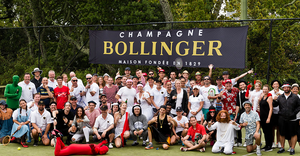 Champagne Bollinger Trade Tennis Tournament Group Photo