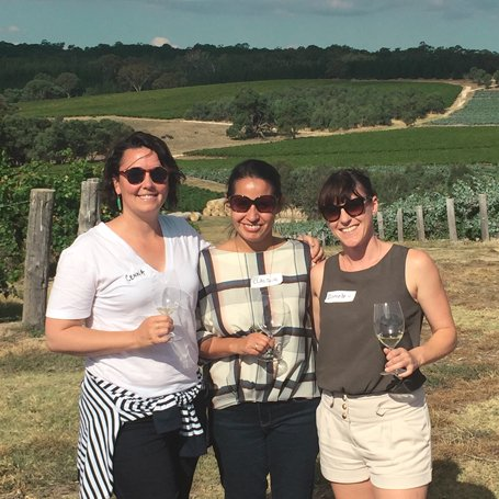 NZ crew at Pewsey Vale vineyard